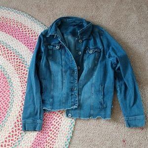 Over sized vintage Jean jacket!!!!